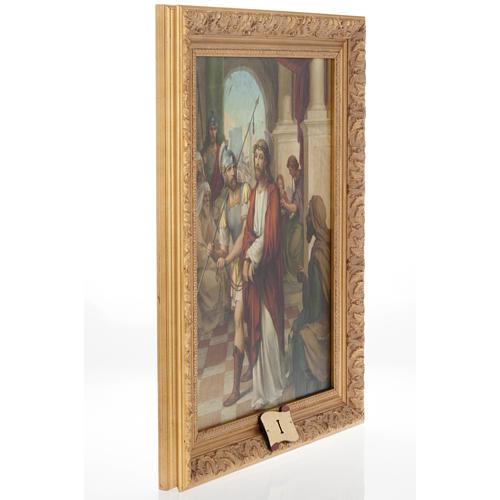 Via Crucis cuadros madera similar pintura 15 estaciones 6