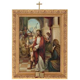 Via Crucis quadri legno tipo pittura 15 stazioni s1