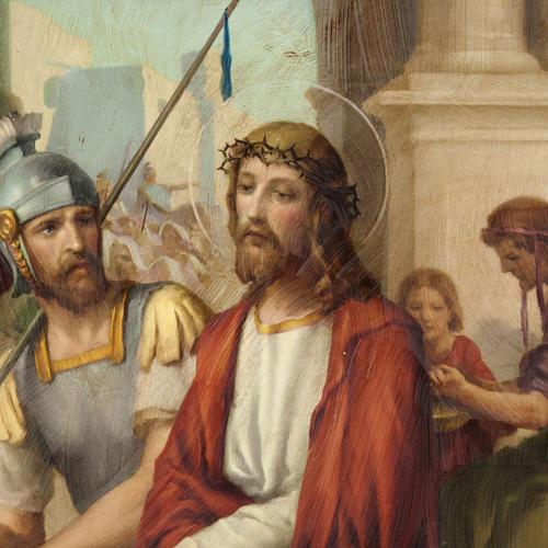 Via Crucis quadri legno tipo pittura 15 stazioni 3