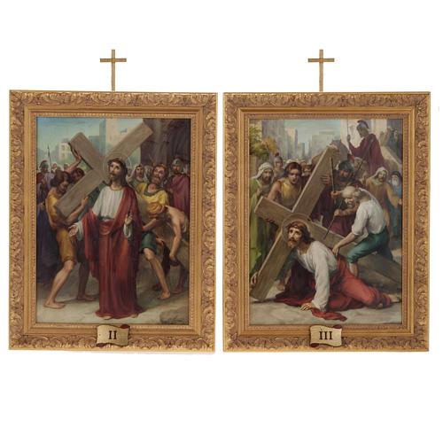 Via Crucis quadri legno tipo pittura 15 stazioni 9