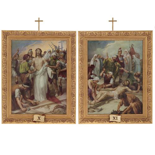 Via Crucis quadri legno tipo pittura 15 stazioni 14