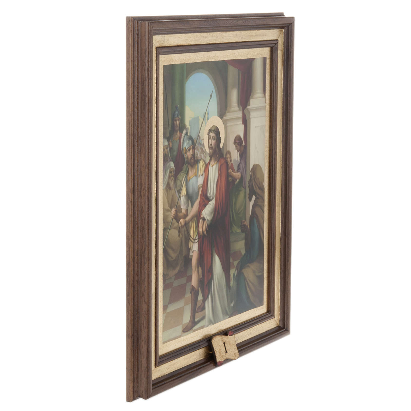 Stations of the Cross printed on wood, 15 stations 4