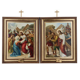 Stations of the Cross printed on wood, 15 stations s8