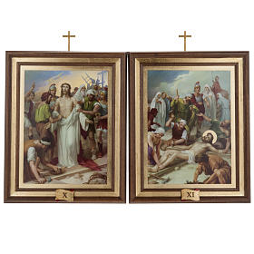 Stations of the Cross printed on wood, 15 stations s11