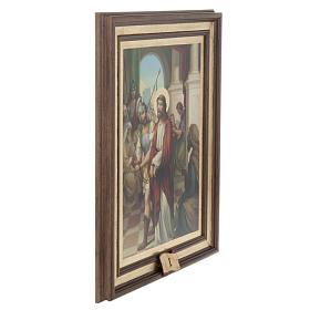 Quadri Via Crucis legno tipo pittura 15 stazioni s4