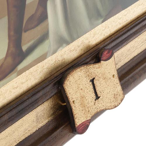 Quadri Via Crucis legno tipo pittura 15 stazioni 5