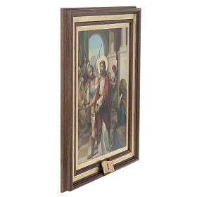 Stations of the Cross printed on wood, 15 stations s4