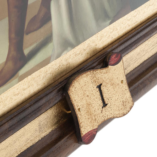 Stations of the Cross printed on wood, 15 stations 5