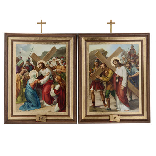 Stations of the Cross printed on wood, 15 stations 8