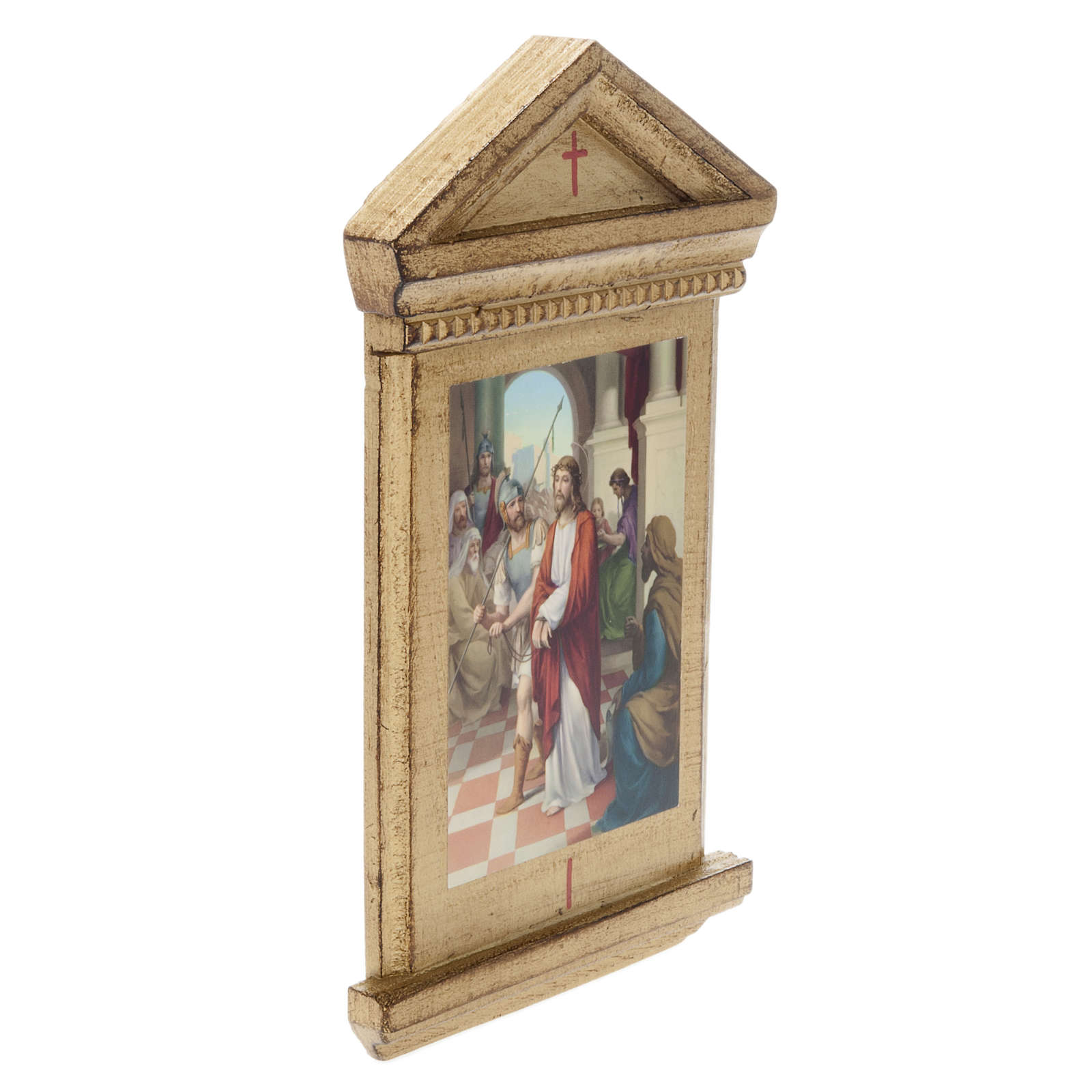 Stations of the Cross printed on wood framed, 15 station 4