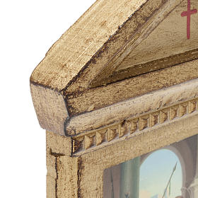 Stations of the Cross printed on wood framed, 15 station s5