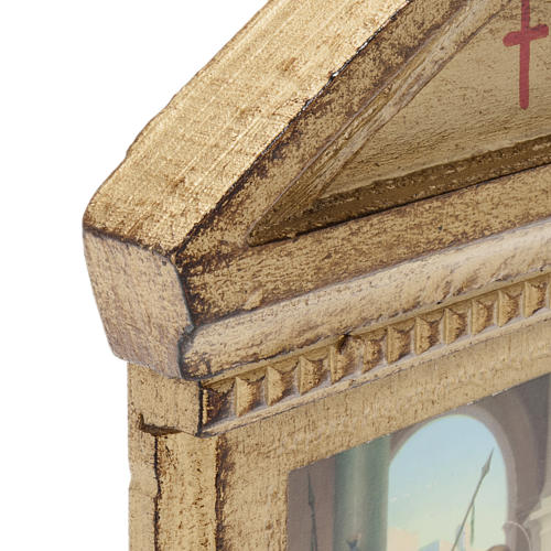 Stations of the Cross printed on wood framed, 15 station 5