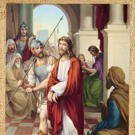 Via Crucis altar de madera XV estaciones s2