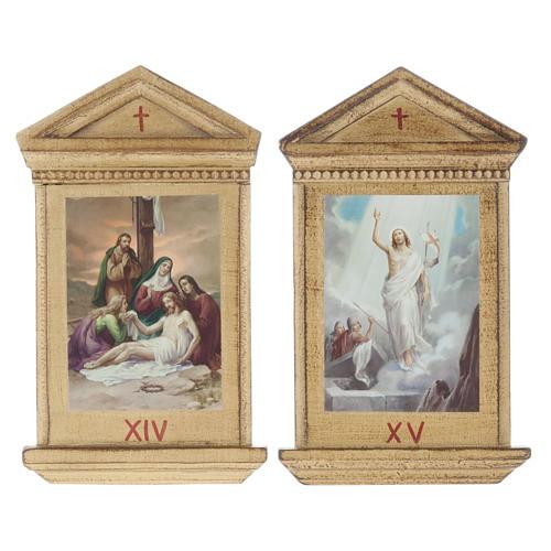 Via Crucis altar de madera XV estaciones 12