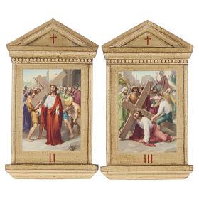 Via Crucis altarini legno XV stazioni s6