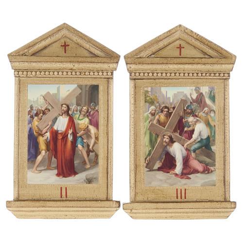 Via Crucis altarini legno XV stazioni 6