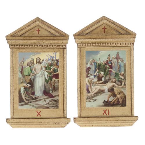 Via Crucis altarini legno XV stazioni 10