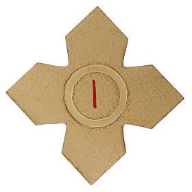 Via Crucis: croci dorate numerate legno 15 pz. s1