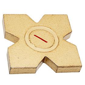 Via Crucis: croci dorate numerate legno 15 pz. s2