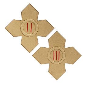 Via Crucis: croci dorate numerate legno 15 pz. s3