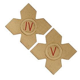 Via Crucis: croci dorate numerate legno 15 pz. s4