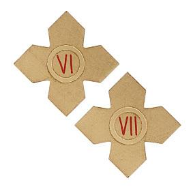 Via Crucis: croci dorate numerate legno 15 pz. s5