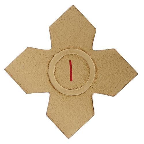 Via Crucis: croci dorate numerate legno 15 pz. 1
