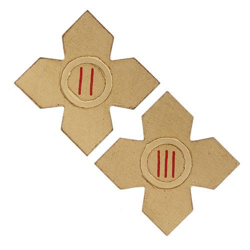 Via Crucis: croci dorate numerate legno 15 pz. 3