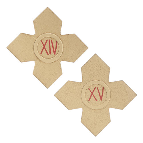 Crosses with numerals for Stations of the Cross 15 pcs 9