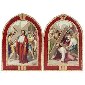Via Crucis: tablas ojivales madera 15 estaciones s4