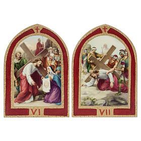 Via Crucis: tablas ojivales madera 15 estaciones s6