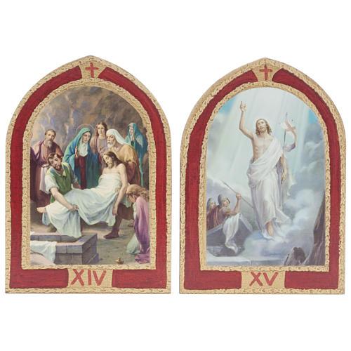 Via Crucis: tablas ojivales madera 15 estaciones 10