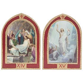Via Crucis: tavole ogivali legno 15 stazioni s10