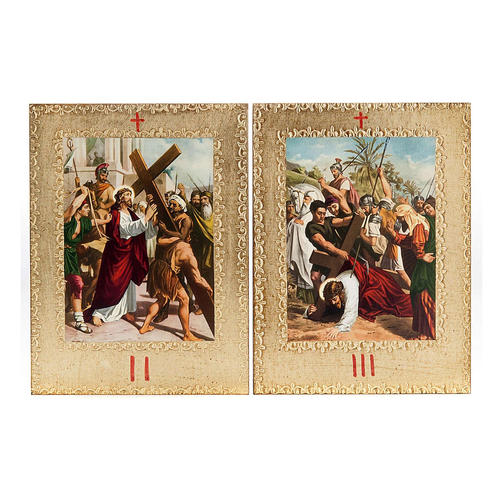 Via Crucis 15 estaciones: tablas doradas en madera 4