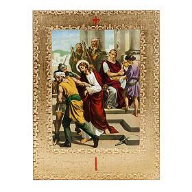 Via Crucis 15 estaciones: tablas doradas en madera s1