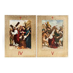 Via Crucis 15 estaciones: tablas doradas en madera s5