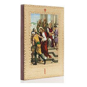 Via Crucis 15 estaciones: tablas doradas en madera s3