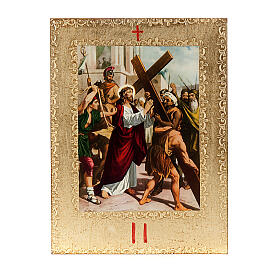 Via Crucis 15 estaciones: tablas doradas en madera s4