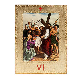 Via Crucis 15 estaciones: tablas doradas en madera s8