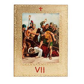 Via Crucis 15 estaciones: tablas doradas en madera s9