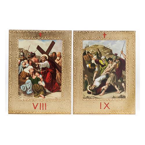 Via Crucis 15 estaciones: tablas doradas en madera 7