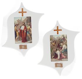 Via Crucis 15 estaciones: tablas estrella lacada madera s4