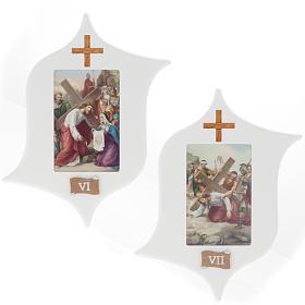 Via Crucis 15 estaciones: tablas estrella lacada madera s6
