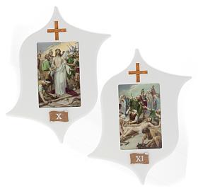Via Crucis 15 estaciones: tablas estrella lacada madera s8