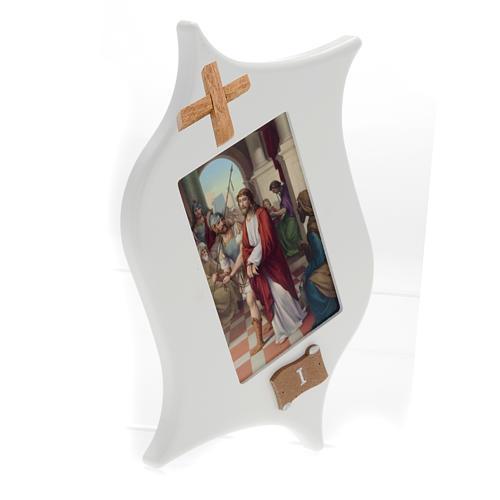 Via Crucis 15 estaciones: tablas estrella lacada madera 2