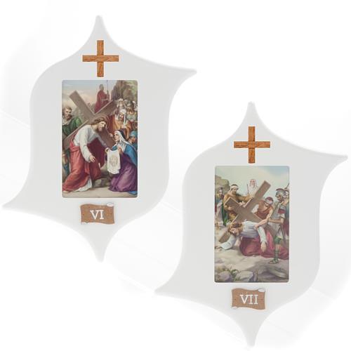 Via Crucis 15 estaciones: tablas estrella lacada madera 6