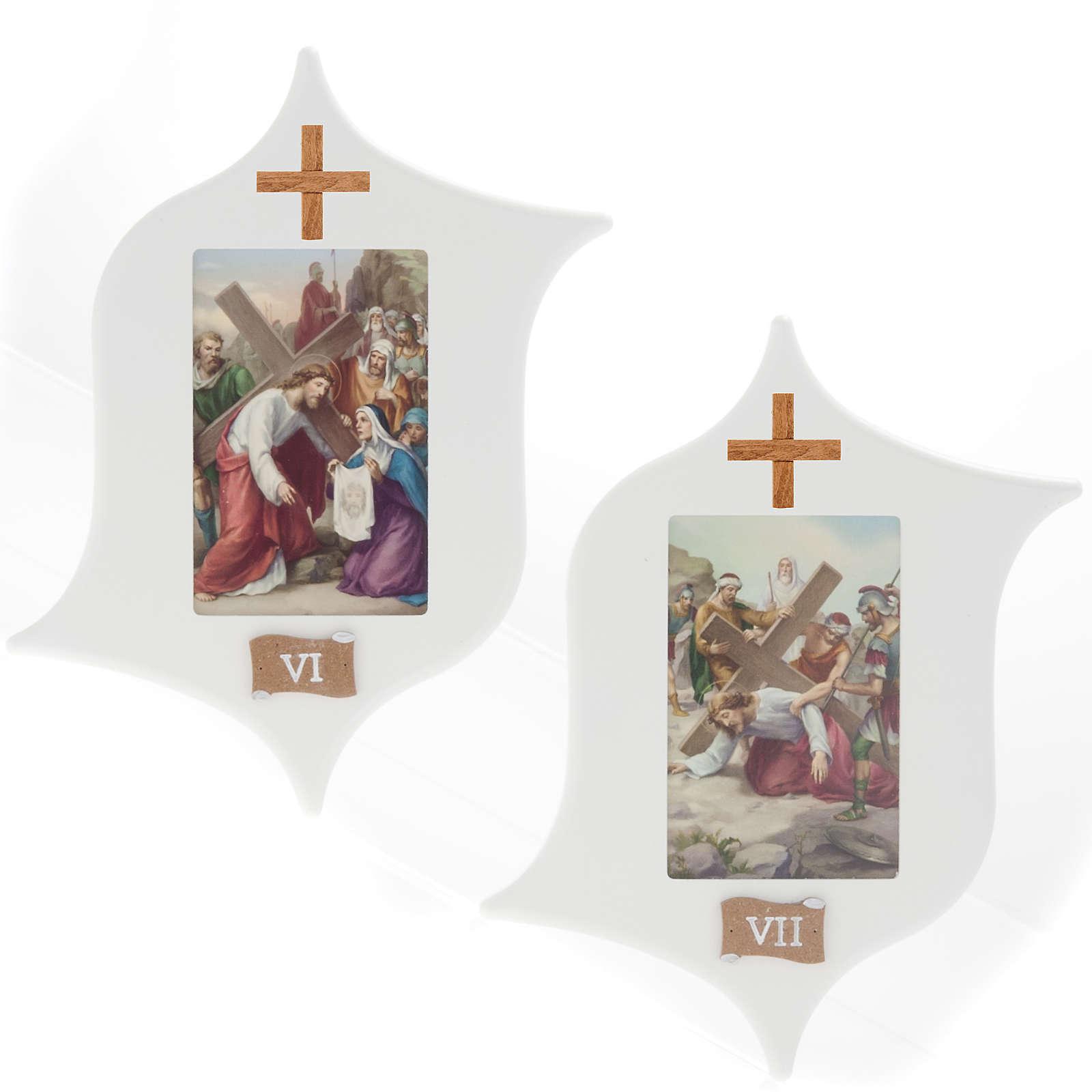 Via Crucis 15 stazioni: tavole legno a stella laccate 4