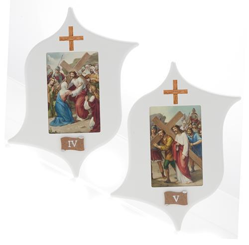 Via Crucis 15 stazioni: tavole legno a stella laccate 5