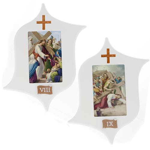 Via Crucis 15 stazioni: tavole legno a stella laccate 7