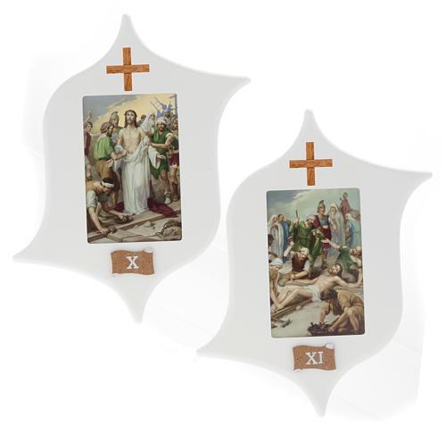 Via Crucis 15 stazioni: tavole legno a stella laccate 8